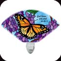 Nightlight-NL135R-Monarch & Wisteria/God loves you and so do I - Monarch & Wisteria/God loves you and so do I