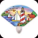 Nightlight-NL146R-Lighthouse/The Lord is my light... - Lighthouse/The Lord is my light and my salvation. Ps. 27:1