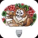 Nightlight-NL275R-Cat & Geraniums - Cat & Geraniums