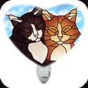 Nightlight-NL303R-Tiffany Cats - Tiffany Cats