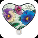 Nightlight-NL320-Victorian Pansy/The Lord is my light. Ps. 82 - Victorian Pansy/The Lord is my light. Ps. 82