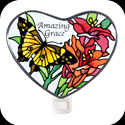 Nightlight-NL329-Butterflies/Lilies/Amazing Grace - Butterflies/Lilies/Amazing Grace