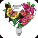 Nightlight-NL329R-Butterflies/Lilies/Amazing Grace - Butterflies/Lilies/Amazing Grace