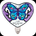 Nightlight-NL333-Blue Butterfly/...I will give you rest - Blue Butterfly/...I will give you rest. Matt. 11:28