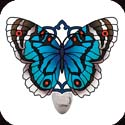 Nightlight-NL5006-Turquoise/Umber Butterfly - Turquoise/Umber Butterfly