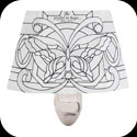 Night Light-NL961-Butterfly in Whites//Be joyful - Butterfly in Whites//Be joyful
