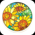 Paperweight/Coaster-PWT1013-Sunflower Field - Sunflower Field