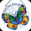 Suncatcher-SC050R-Butterfly/you are loved - Butterfly/you are loved