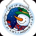 Suncatcher-SC060R-Snowmen/LET IT SNOW - Snowmen/LET IT SNOW