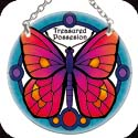 Suncatcher-087R-Jeweled Butterfly/Treasured Possession  - Hummingbird & Bee/?Wait for the Lord! Ps. 27:14