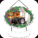 Suncatcher-SFS1009R-Tiffany Cats - Tiffany Cats