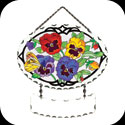 Suncatcher-SFS1013-Botanical Pansies - Botanical Pansies