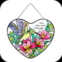 Suncatcher-SH015-Hummingbird & Lilies/Your face... - Hummingbird & Lilies/Your face. Lord, I will seek. Ps. 27:8