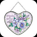 Suncatcher-SH432-Pansies/Grandma is special - Pansies/Grandma is special
