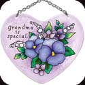 Suncatcher-SH432R-Pansies/Grandma is special - Pansies/Grandma is special