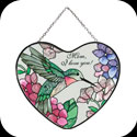 Suncatcher-SH499-Hummingbird/Hydrangea/Mom, I love you. - Hummingbird/Hydrangea/Mom, I love you.