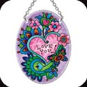 Suncatcher-SO109R-Paisley Heart/Love you - Paisley Heart/Love you