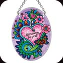 Suncatcher-117R-Paisley Heart/Blessings to you - Paisley Heart/Blessings to you