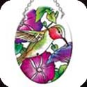 Suncatcher-SO170R-Hummingbird & Petunias - Hummingbird & Petunias