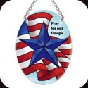 Suncatcher-SO195R-Active Duty/Pray for our Troops - Active Duty/Pray for our Troops