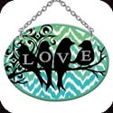 Suncatcher-SO199R-Chevrons & Bird Silhouettes//LOVE - Chevrons & Bird Silhouettes//LOVE