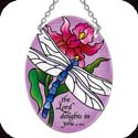 Suncatcher-SO234R-Dragonfly/...the Lord delights in you - Dragonfly/...the Lord delights in you