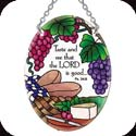 Suncatcher-SO279R-Grapes & Cheese/Taste and see that the LORD is good...Ps. 34:8 - Grapes & Cheese/Taste and see that the LORD is good...Ps. 34:8