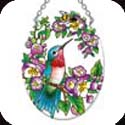 Suncatcher-SO303R-Hummingbird & Bee - Hummingbird & Bee