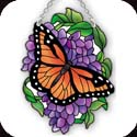 Suncatcher-SSB1007R-Monarch & Wisteria - Monarch & Wisteria