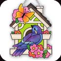 Suncatcher-SSB1009R-Bird & Birdhouse - Bird & Birdhouse