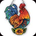 Suncatcher-SSB1016R-Rooster - Rooster