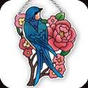 Suncatcher-SSB1027R-Swallow with Peony - Swallow with Peony