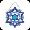 Suncatcher-SSB1032R-Star of David - Star of David