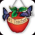 Suncatcher-SSB1033R-Apple//#1 Teacher - Apple//#1 Teacher