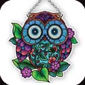Suncatcher-SSB1043R-Patterned Owl - Patterned Owl