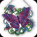 Suncatcher-SSB1046R-Butterfly on Pattern - Butterfly on Pattern