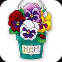 Suncatcher-SSD1001R-Potted Pansies/MOM - Potted Pansies/MOM