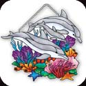 Suncatcher-SSD1008R-Dolphins - Dolphins