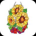 Suncatcher-SSD1012-Sunflowers - Sunflowers