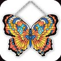 Suncatcher-SSD1017R-Orange/Blue - Orange/Blue Butterfly