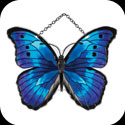 Suncatcher-SSD1019-Blue/Black Butterfly - Blue/Black Butterfly