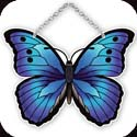 Suncatcher-SSD1019R-Blue/Black Butterfly - Blue/Black Butterfly