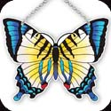 Suncatcher-SSD1020R-Yellow/Blue Butterfly - Yellow/Blue Butterfly