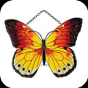 Suncatcher-SSD1021-Red/Yellow Butterfly - Red/Yellow Butterfly