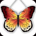 Suncatcher-SSD1021R-Red/Yellow Butterfly - Red/Yellow Butterfly