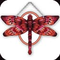 Suncatcher-SSD1022R-Red/Terracotta Dragonfly - Red/Terracotta Dragonfly