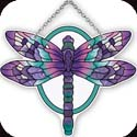 Suncatcher-SSD1023R-Violet/Turquoise Dragonfly - Violet/Turquoise Dragonfly