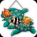 Suncatcher-SSD1025R-Turtles & Fish - Turtles & Fish