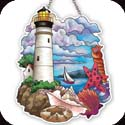 Suncatcher-SSE1007R-Lighthouse & Shells - Lighthouse & Shells