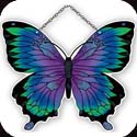 Suncatcher-SSE1017R-Violet/Turquoise Butterfly - Violet/Turquoise Butterfly